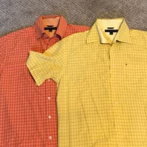 Tommy Hilfiger shirts in a lot of 2 shirts